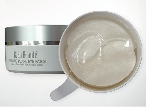 Гидрогелевая, суперэластичная, увлажняющая маска для кожи вокруг глаз с перламутром и экстрактами альпийских трав «FIRMING PEARL EYE PATCH» марки Beau Beauté